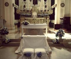 Allestimento della chiesa a BAri