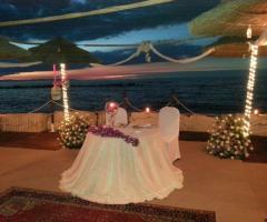 Il tavolo degli sposi vista mare