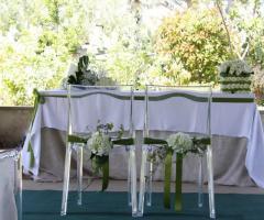 La seduta degli sposi per la cerimonia civile