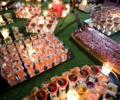 Buffet di antipasti per il ricevimento di matrimonio