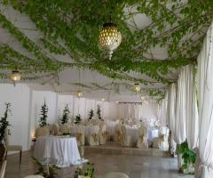 Villa San Martino - Il tavolo per gli sposi in bianco