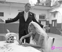 Fotografia degli sposi in stile reoprtage