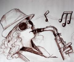Sax Blond Letizia Brunetti - Letizia in grafica