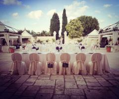 Masseria Cariello Nuovo - Il tavolo degli sposi all'aperto