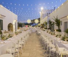 Masseria San Nicola - Il ricevimento di nozze serale
