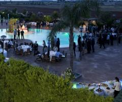 Ricevimento di matrimonio a bordo piscina - Masseria Grottella