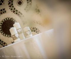Allestimento delle nozze con candele