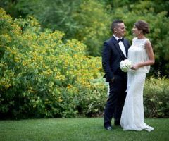 V. e G. Creazioni Visive - Gli sposi nel verde