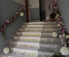 Addobbo floreale per la casa della sposa
