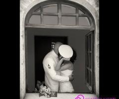 Foto del bacio degli sposi