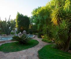 Il giardino della location di nozze