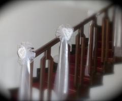 Allestimento con stoffe per i tavoli del rinfresco di nozze beb lul addobbi e decorazioni - Addobbi matrimonio casa della sposa ...