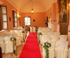 Sala interna per la cerimonia di matrimonio