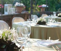 Villa Boscogrande - Tavoli per il ricevimento di matrimonio in terrazza