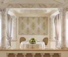 Villa Valente - Il tavolo degli sposi nella sala interna