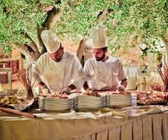 Villa Menelao - Show cooking per il banchetto di nozze