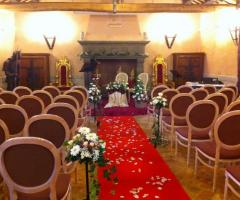 Sala del Camino allestita per la cerimonia di matrimonio