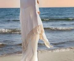 Daniela Gristina - Vestito da sposa con scialle ricamato