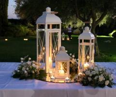 Lanterne per un matrimonio serale
