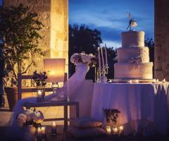 Wedd Happy Story Matrimoni in Puglia - Torta nuziale al tramonto