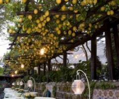 Villa del Vecchio Pozzo - Giardino di limoni allestito per il ricevimento di matrimonio