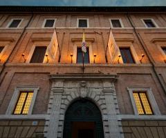 Facciata principale di Palazzo Cardinal Casi