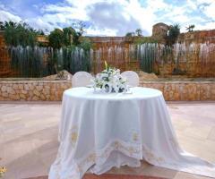 Parco dei Principi Ricevimenti - Il tavolo degli sposi all'aperto