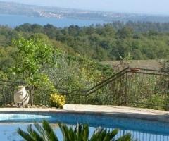 Vista dalla location di matrimonio sul lago di Bracciano