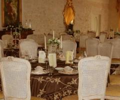 Sala interna per il ricevimento nuziale