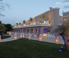 Villa Althea Ricevimenti - La location al tramonto