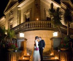 Servizio fotografico di matrimonio presso la villa