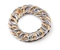 Bracciale oro e argento