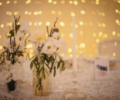 Cala dei Balcani - Dettagli del tavolo degli sposi