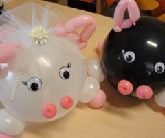 Il Punto Esclamativo - Simpatici porcellini  sposo e sposa