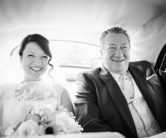 Dario Imparato Foto - L'arrivo in macchina della sposa