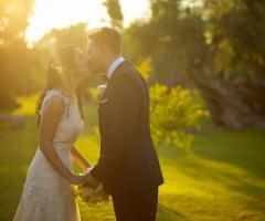 Tenuta Monacelli - Una foto romantica degli sposi