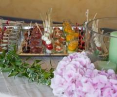 Villa Aretusi - Tavolo del Finger Food per il matrimonio