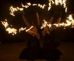 Spettacolo di fuoco per il matrimonio