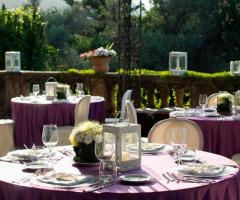 Villa Boscogrande - Tavoli in terrazza per il ricevimento di matrimonio