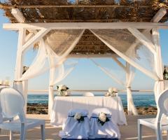 Allestimento della cerimonia di nozze