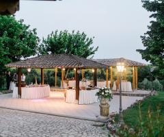 Villa Valente - La struttura per il buffet