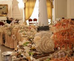 Buffet di pesce per il matrimonio