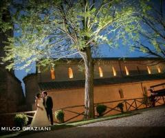 Abbazia di Sant'Andrea in Flumine - Gli sposi presso la location di nozze