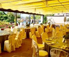 Il giardino di Villa Lina - Il  rinfresco all'aperto