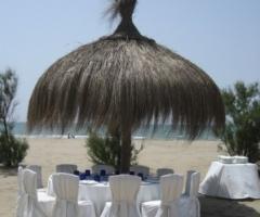 Castello Miramare - Tavoli per le nozze sulla spiaggia