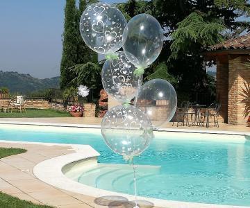 Addobbi, palloncini e allestimenti per il matrimonio a Torino