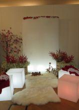 Bacche rosse e fiori bianchi per un matrimonio d'inverno