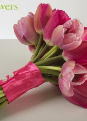 Tulipani Bouquet Sposa.Foto Bouquet Sposa Di Tulipani Lemienozze It