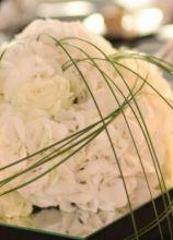 Centrotavola di fiori bianchi per il matrimonio