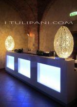 Allestimento bancone bar e luci per evento